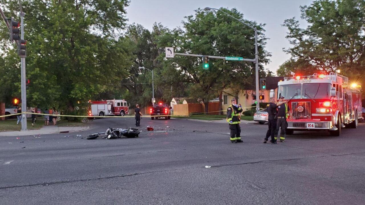 1 injured in Billings motorcycle crash