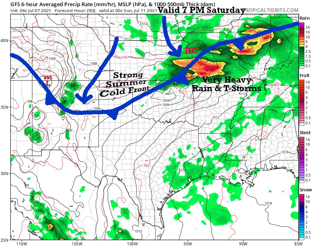 7 PM Saturday Forecast