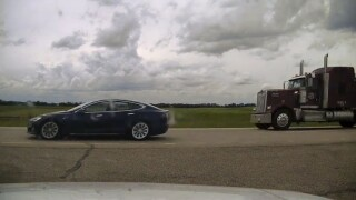 Police: Driver asleep as Tesla speeds to 90 mph