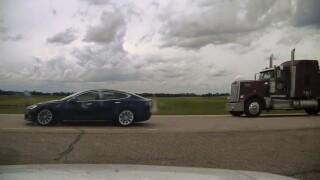 Police: Driver asleep as Tesla speeds to 90 mph
