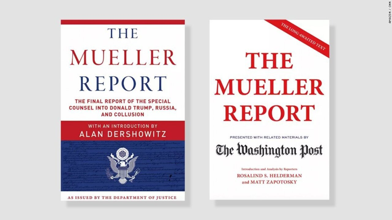 3 versions of 'The Mueller Report' already best-sellers for Amazon, Barns & Noble