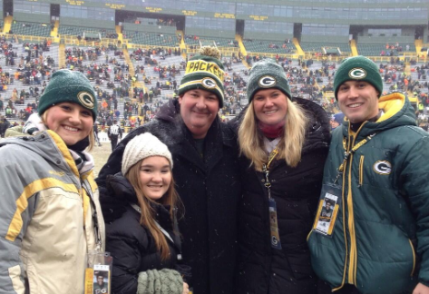 Celebrity Packers fans cheering for the Green and Gold