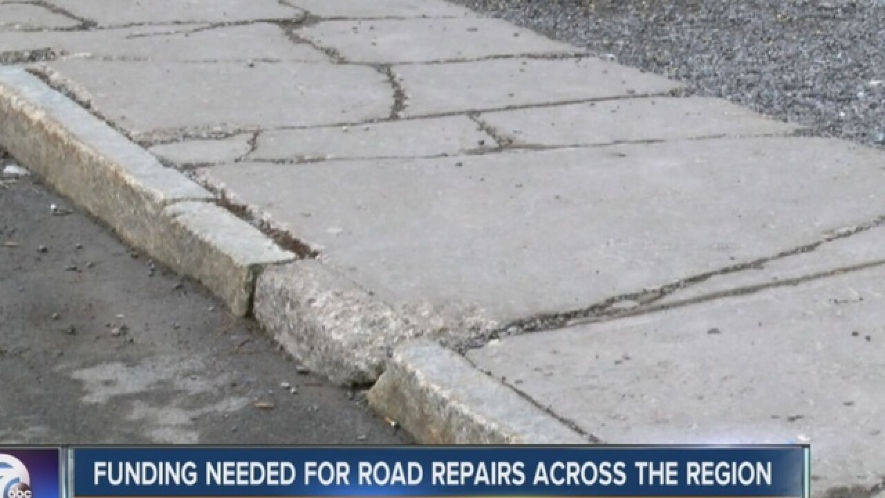 Push for state money to improve roads