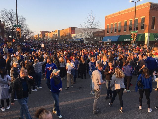 PHOTO GALLERY: KU Fans Celebrate in Lawrence