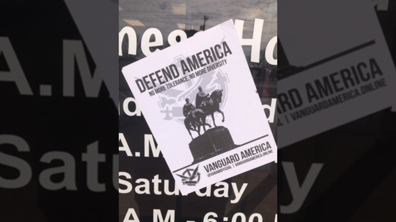White Supremacist Flyer Posted To Door Of Local Business