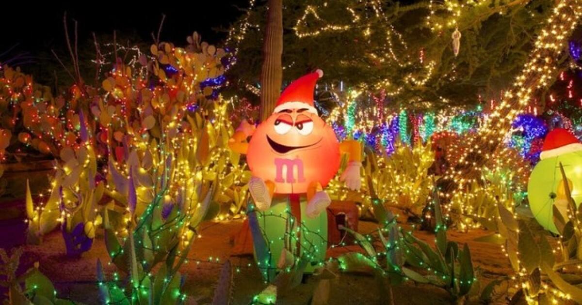 Ethel M Christmas Lights 2021 Ethel M Kicks Off Holidays With Lighting Of Cactus Garden
