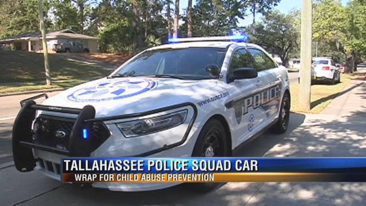 Tallahassee Police Unveil New Wrap Inspired by Child Abuse Prevention