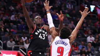 Pistons' losing streak reaches five after loss to Raptors