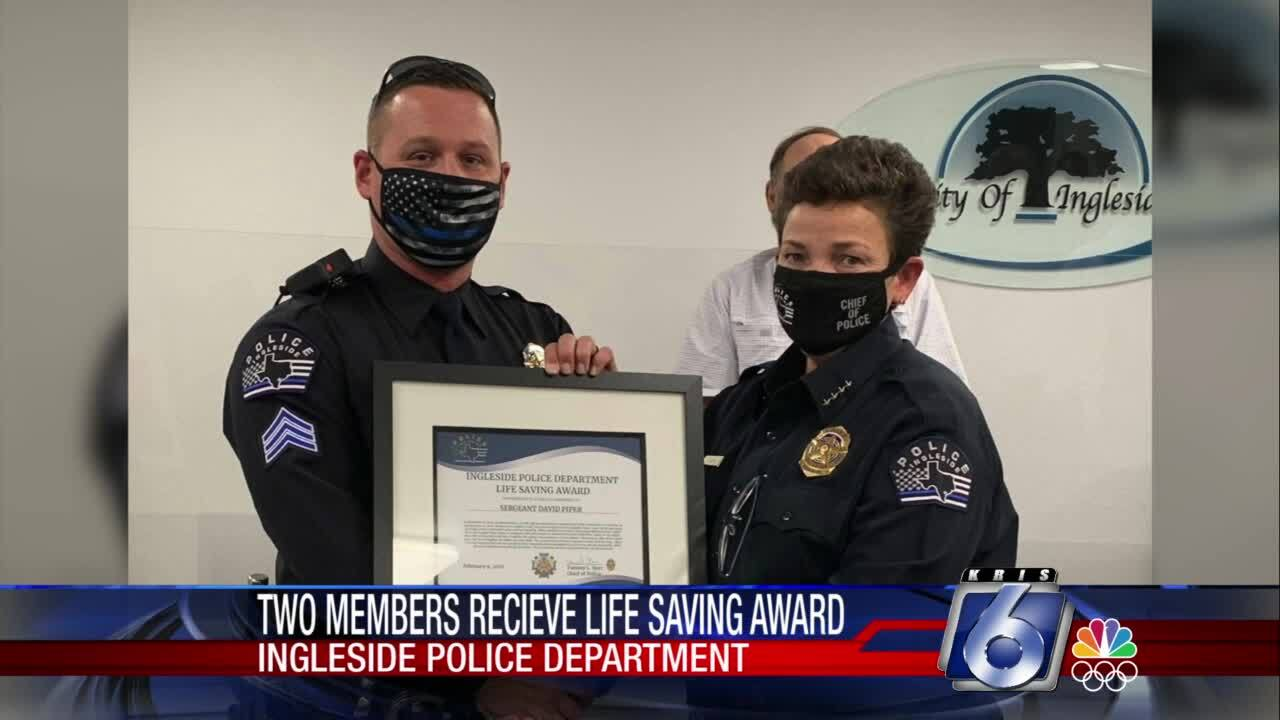 Two Ingleside police officers were honored