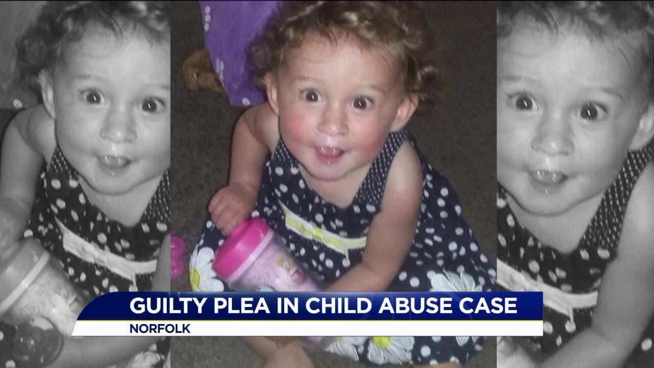 Mother of child killed in Norfolk abuse case pleadsguilty