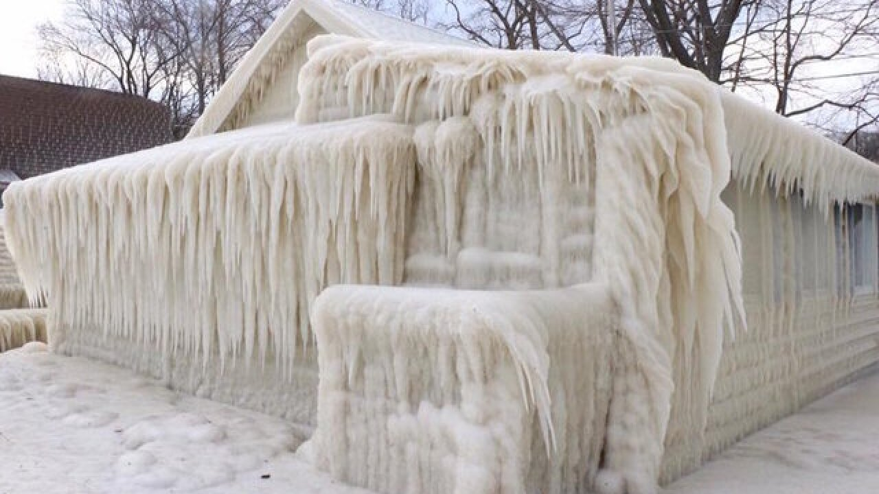 Yes, this is a real house completely encased in ice
