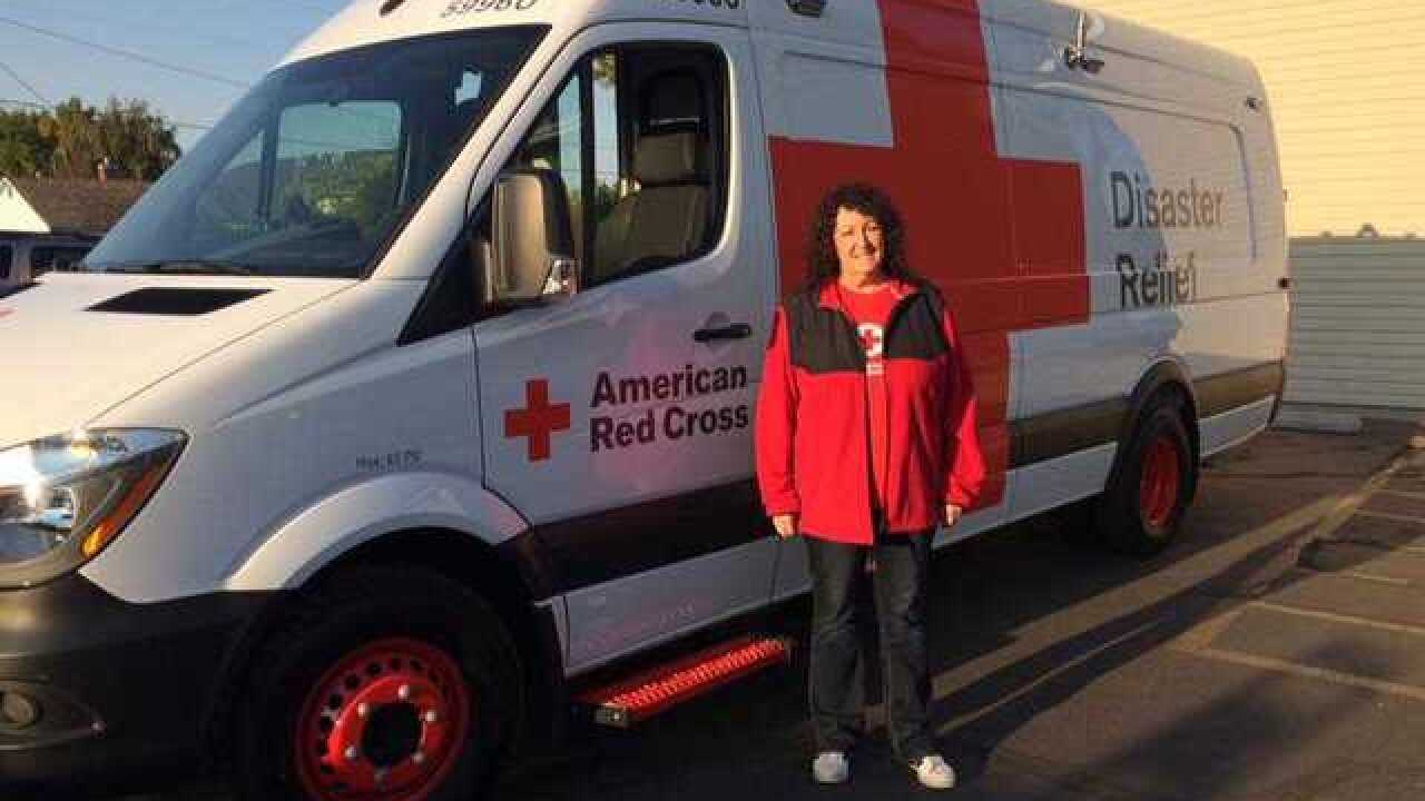 Local Red Cross van to help with Florence