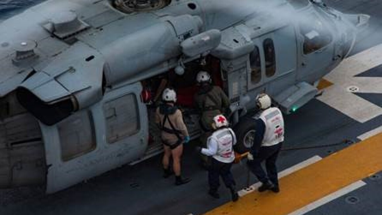 USS Wasp rescues two from civilian plane crash
