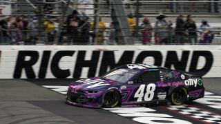 Bowman pulls off swift late move to win Cup race at Richmond