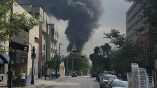 Officials responding to large fire at Madison Gas and Electric substation in Madison