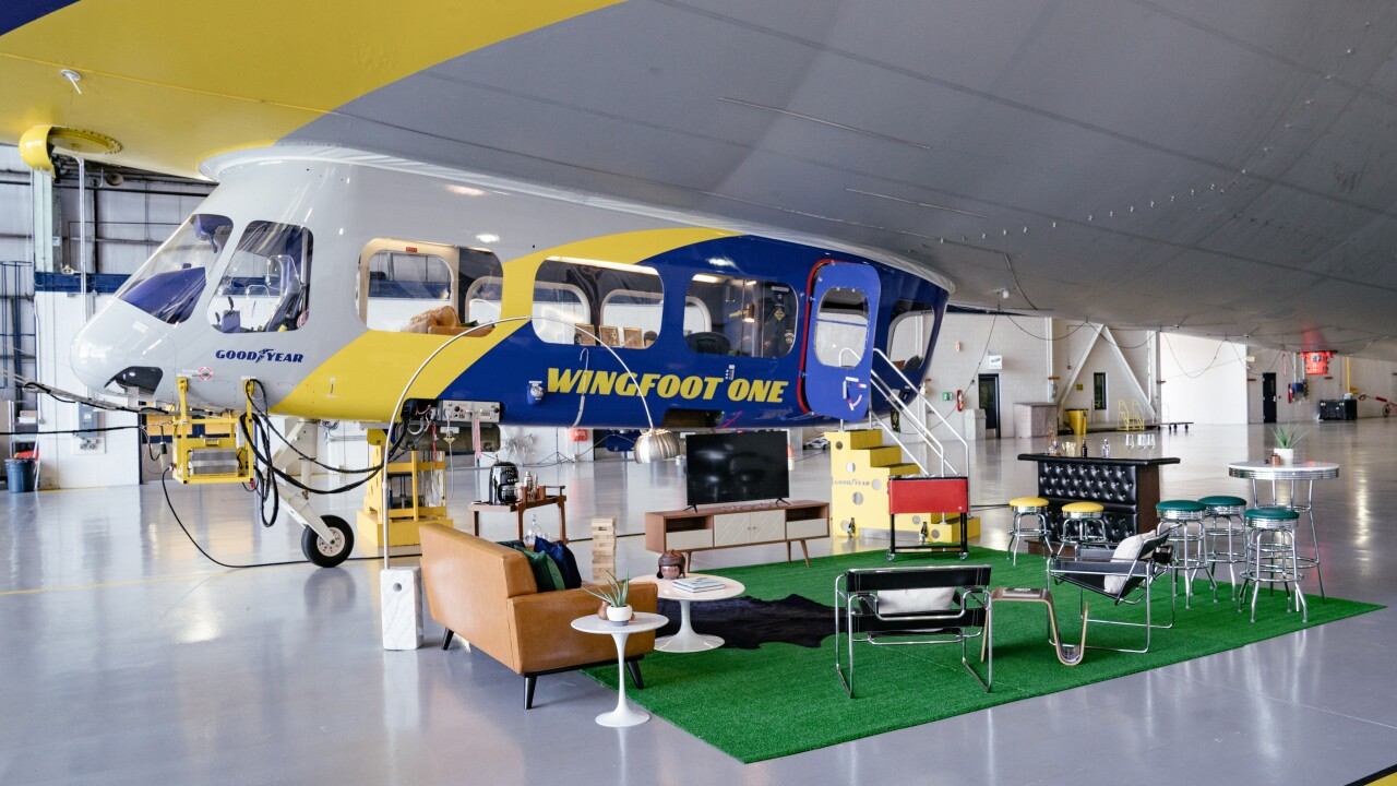 You can now book an Airbnb stay on the iconic Goodyear Blimp