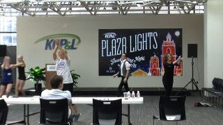 Singers and dancers audition for chance to perform on stage at Plaza Lighting Ceremony