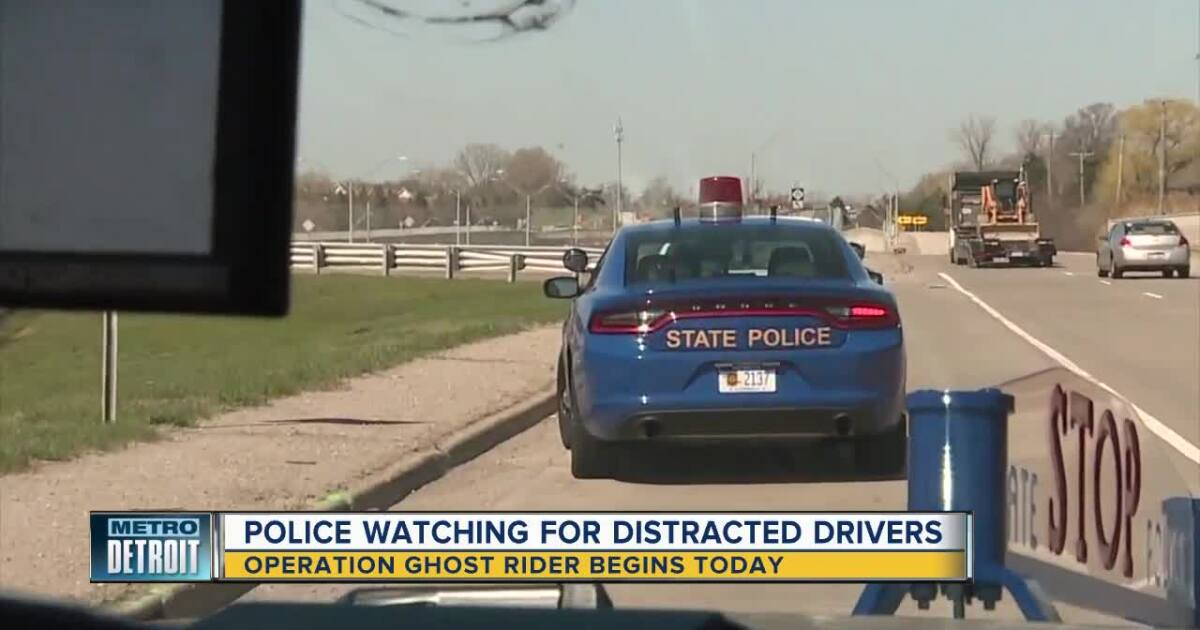 Operation Ghost Rider: Police ride in unmarked cars to target distracted drivers