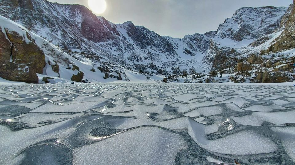 ice waves at Rocky Mountain National Park