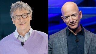 Gates Bezos Split