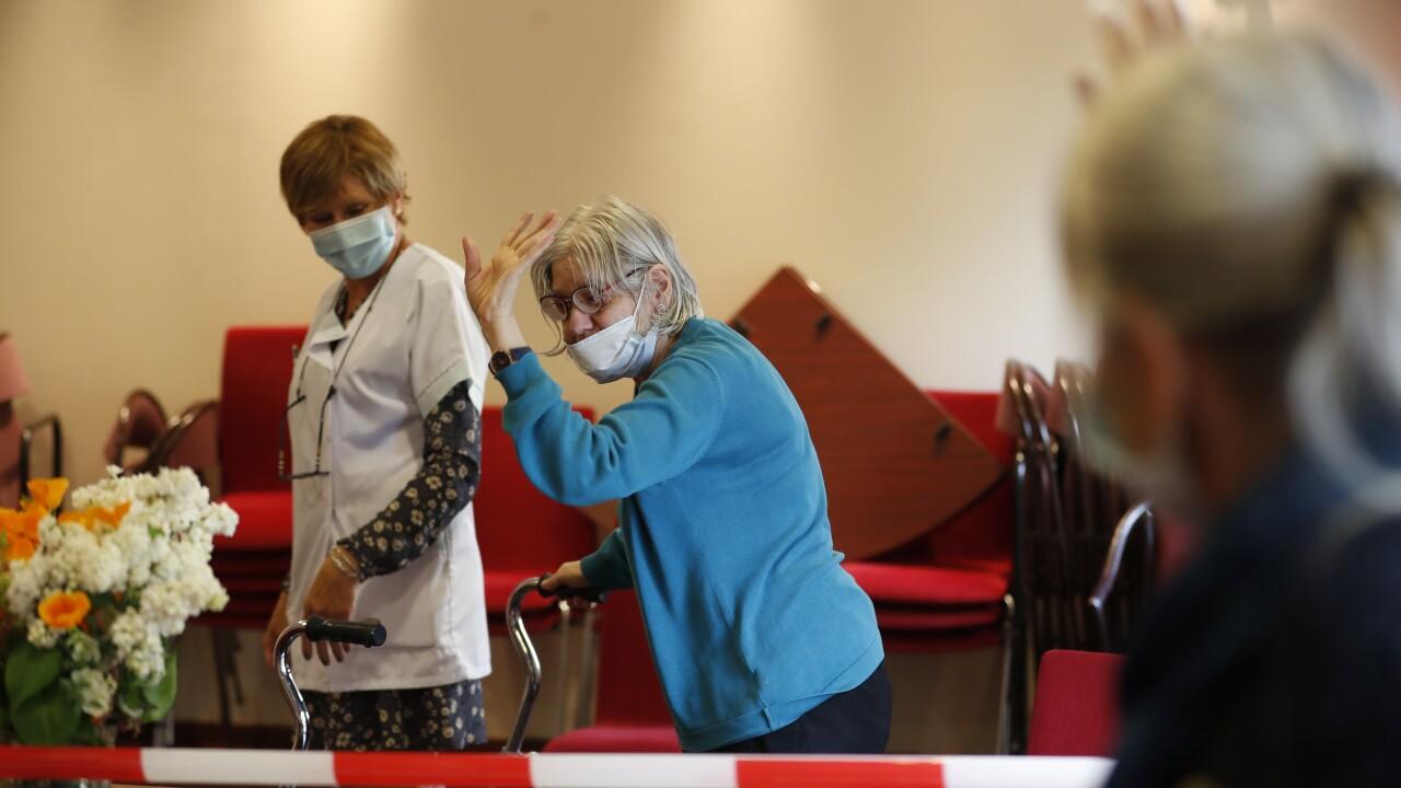 APTOPIX Virus Outbreak France Nursing Homes
