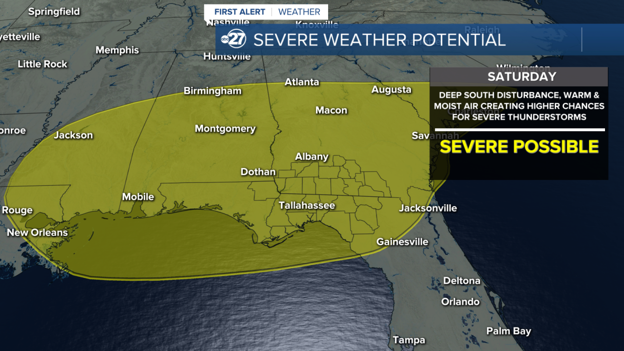 Saturday severe weather outlook (from Wednesday 04/21/2021)