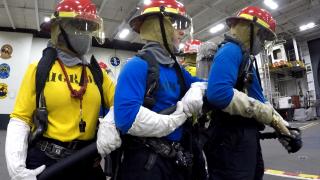 Photos: How sailors on the U.S.S. George H. W. Bush prepare for theworst