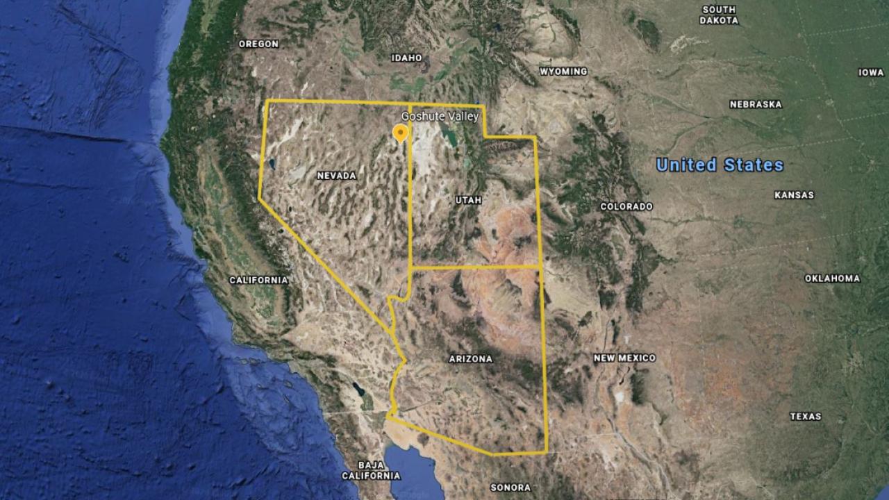 Nevada plane crash map