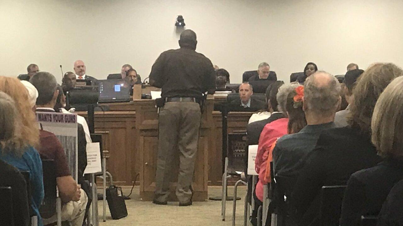 Public voices opinions during gun reform discussion inRichmond