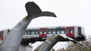 Whale Tail Sculpture Saved Train From Plummeting 30 Feet Off Railway Platform