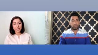 Nadi Paul, a senior therapist at the Center for Child Counseling, speaks to WPTV journalist Josh Navarro on Aug. 19, 2021.jpg