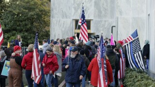 Protest-Oregon Lawmaker Charged