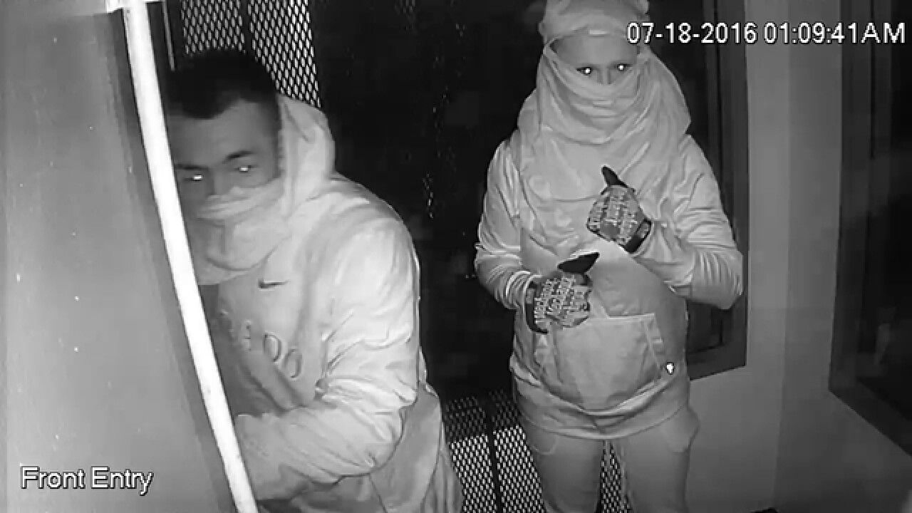 3 people wanted following attempted burglary