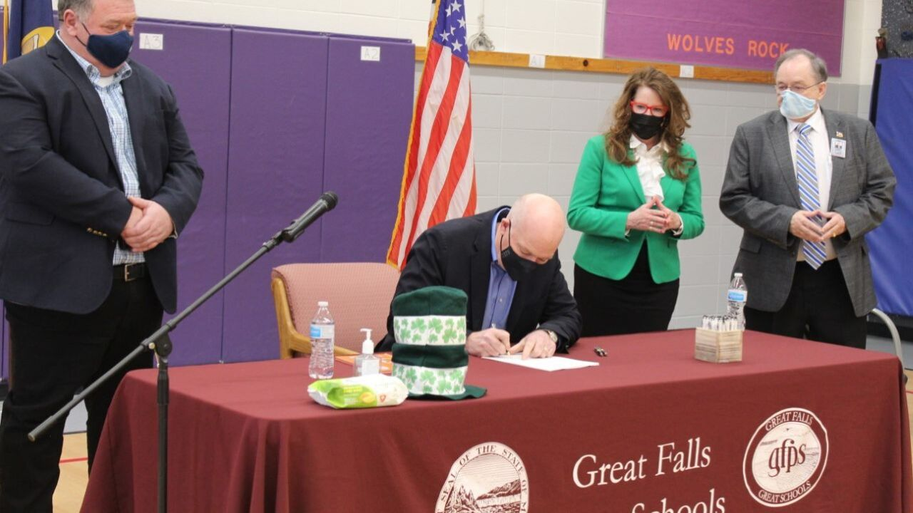 Gianforte signed Montana's TEACH Act into law on Friday at Sacajawea Elementary School in Great Falls