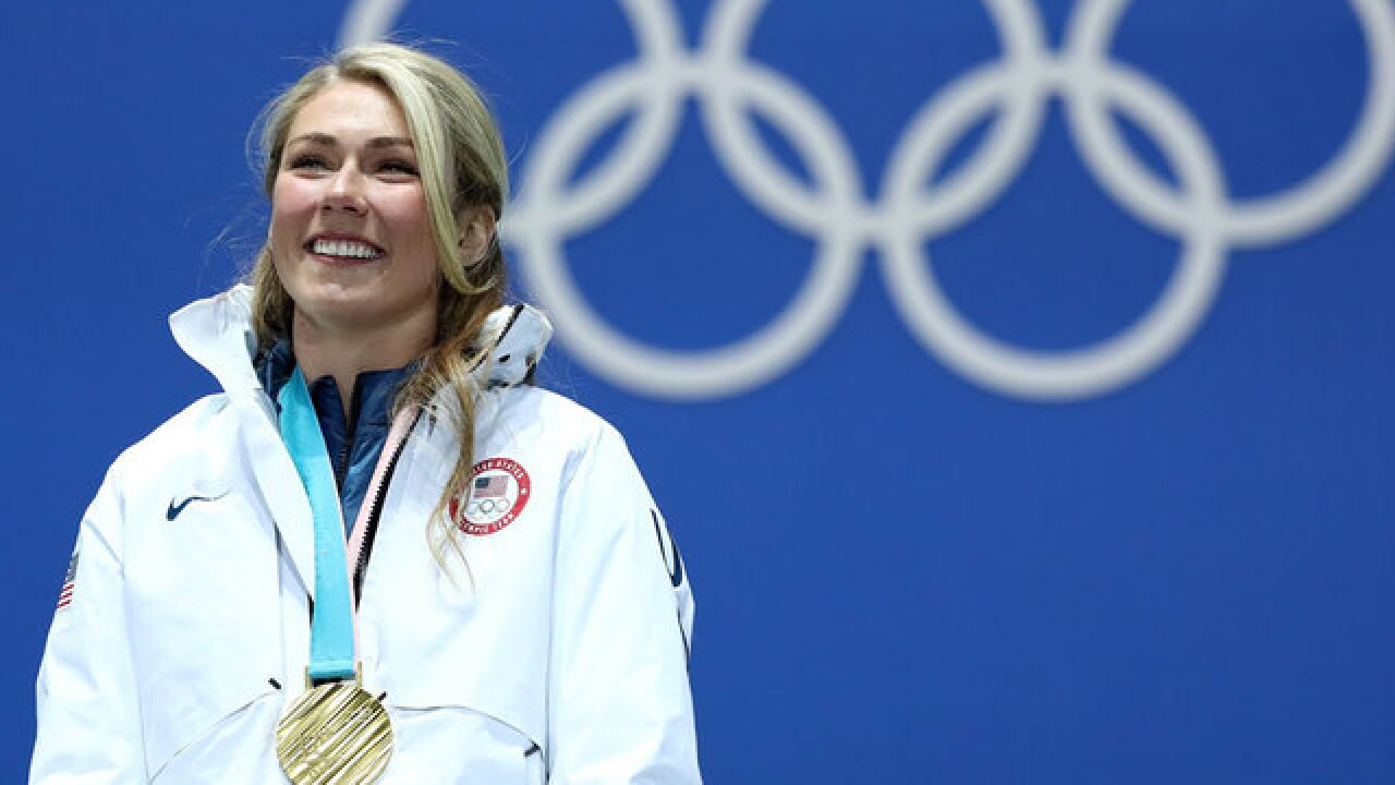 American Mikaela Shiffrin wins Olympic gold medal in women's giant slalom