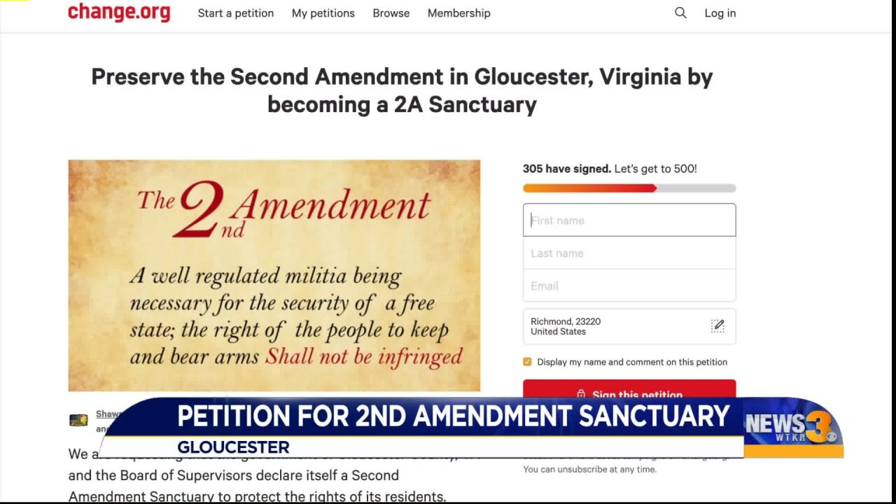 Petition circulates on social media asking to make local county a Second Amendment sanctuary