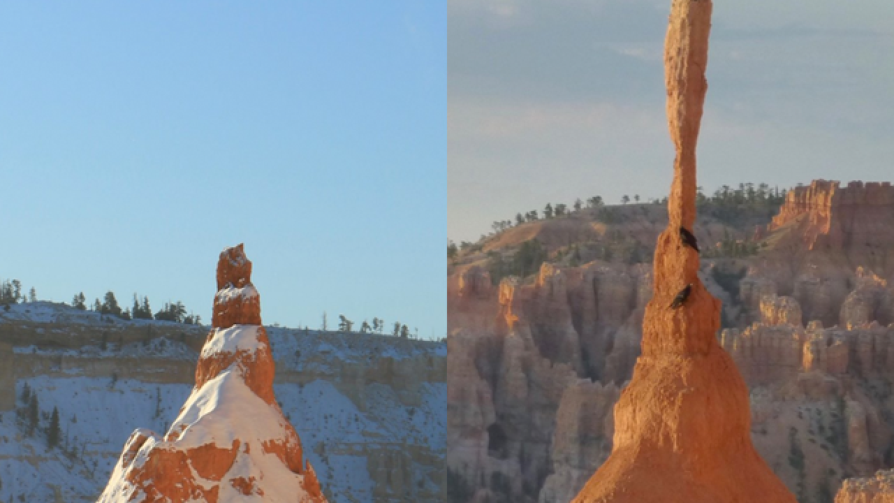 Rock spire falls to earth, changing Utah park