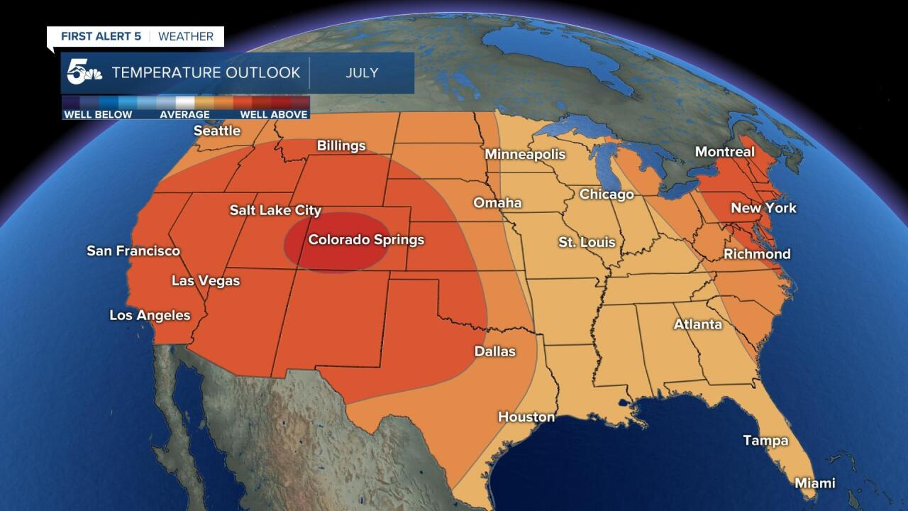 July temperature outlook for the U.S.