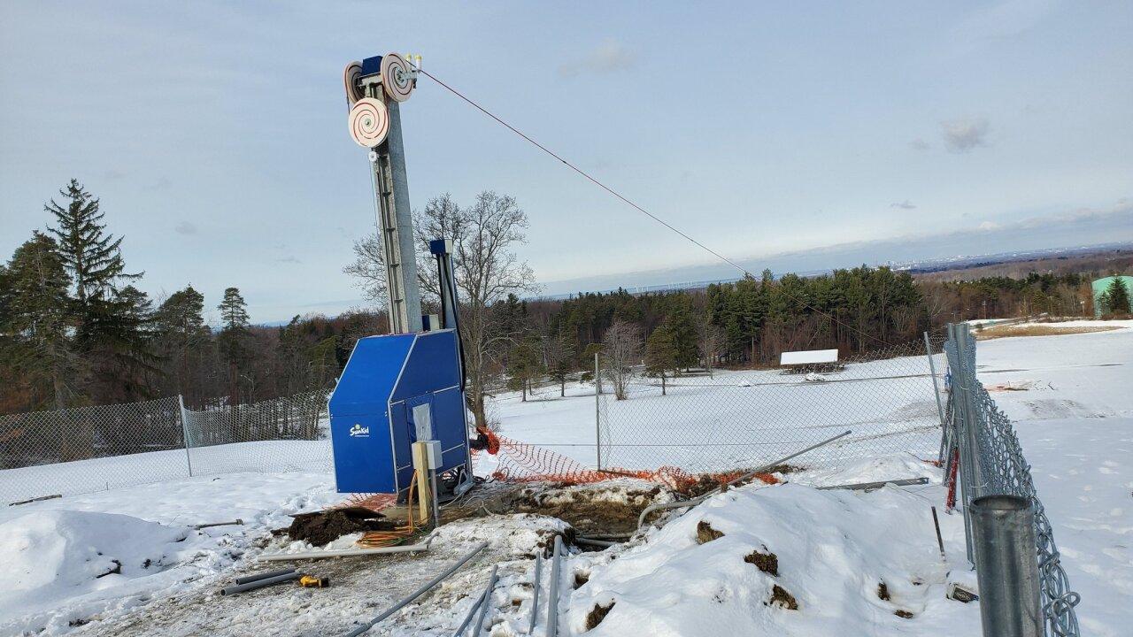 Construction underway on ski pull at Chestnut Ridge Park