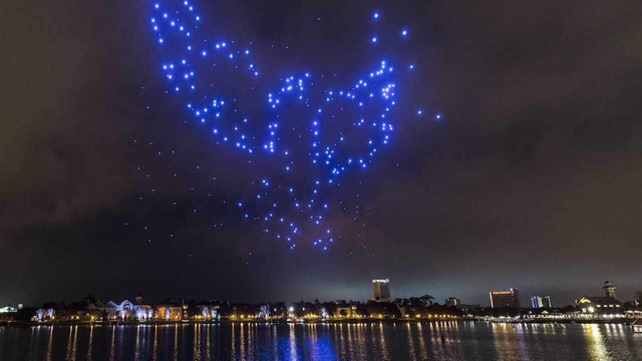Disney World uses 300 drones to light up the skies for the holidays