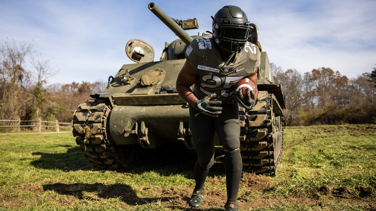 2020 Army-Navy Game uniforms (Courtesy: Army football)