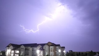 Lightning, July 21 2019, in Thornton by Tina Grant