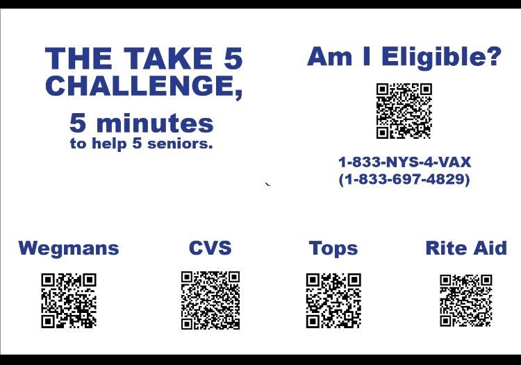 Take Five Postcard