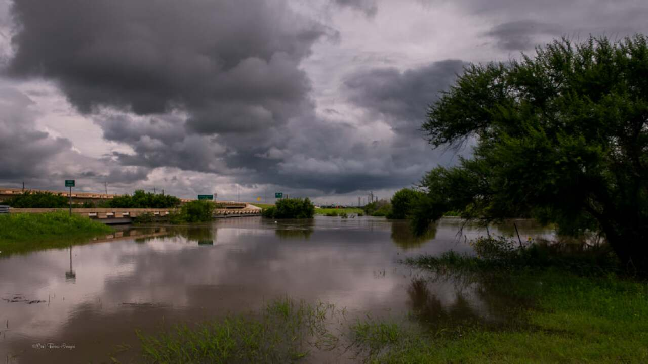 Oso Creek Flooding - Photo By: Facebook Weather Watcher Lisa Mejia Torres