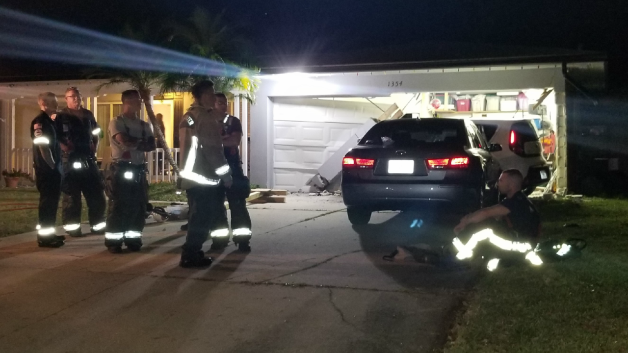 teen crashes stolen SUV into house