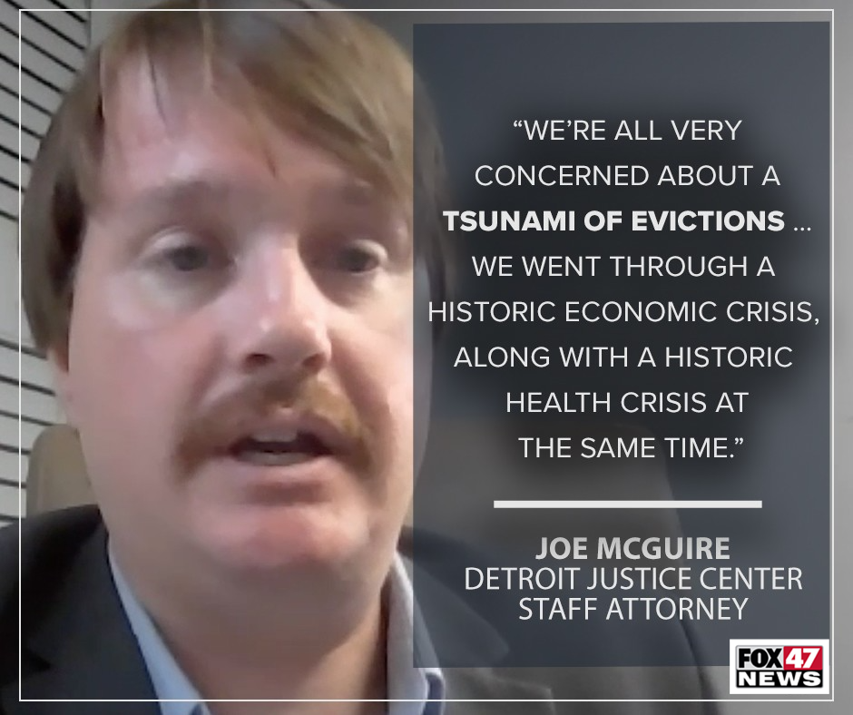 Joe McGuire, attorney with the Detroit Justice Center