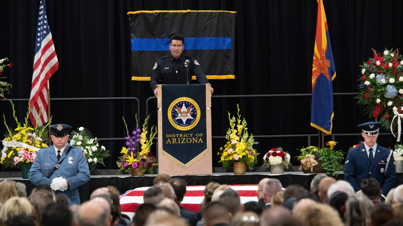 Memorial service for fallen U.S. Marshal held at Tucson Convention Center