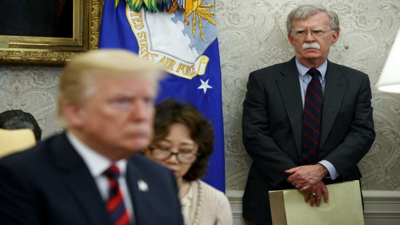 President Trump and John Bolton