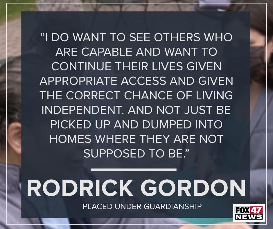 Rodrick Gordon's thoughts on guardianship