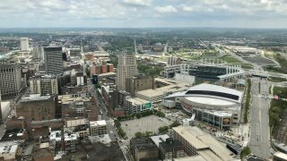View from Cleveland's Terminal Tower Observation Deck